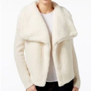 Calvin Klein Jeans Mixed-media Sweater Jacket